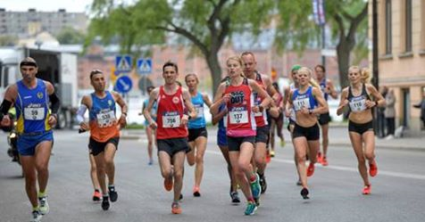 Bild på Lisa Ring under Stockholms Marathon